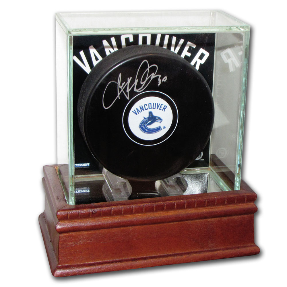 Ryan Miller Autographed Vancouver Canucks Puck w/Display Case