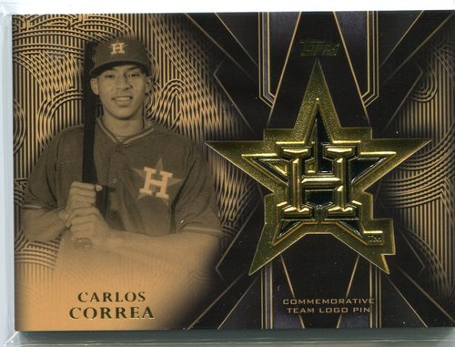 Photo of 2016 Topps Team Logo Pins #TLPCC Carlos Correa