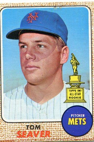 Photo of 1968 Topps #45 Tom Seaver -- Hall of Famer