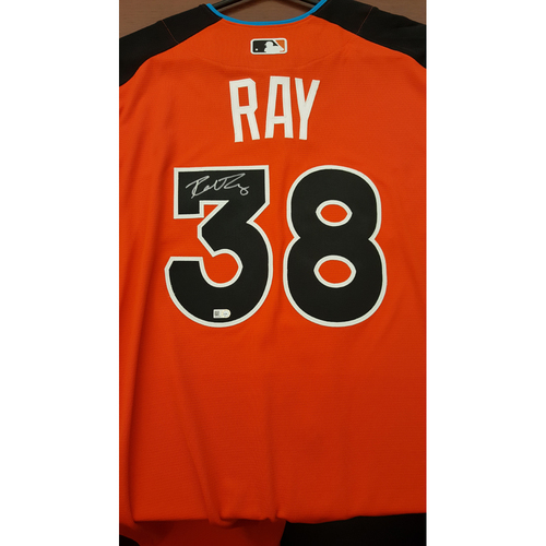 Photo of Robbie Ray 2017 Major League Baseball Workout Day/Home Run Derby Autographed Jersey
