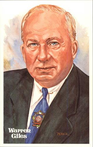 Photo of 1980-02 Perez-Steele Hall of Fame Postcards #167 Warren Giles -- Set #08689