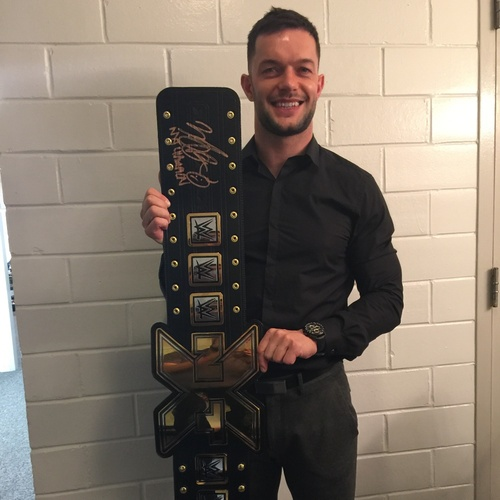 Photo of Finn Bálor SIGNED NXT Championship Replica Title (NXT TakeOver: Dallas)