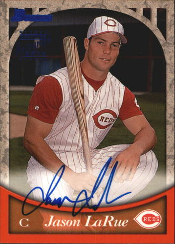 Photo of 1999 Bowman Autographs #BA51 Jason LaRue B