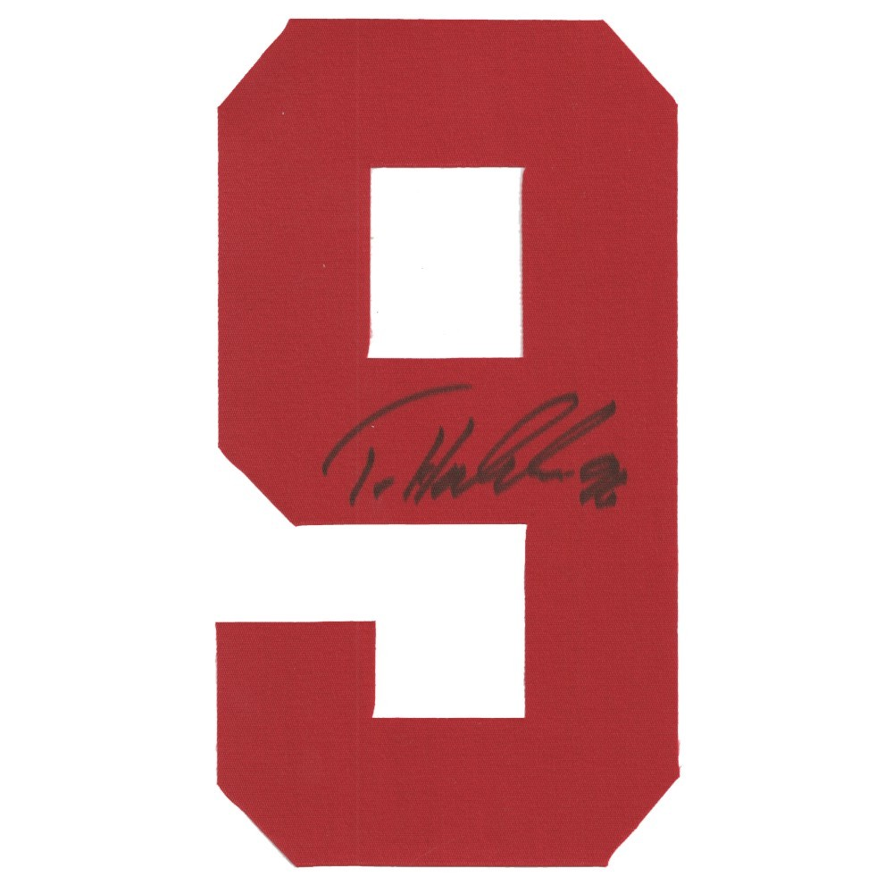 Tomas Holmstrom Autographed Detroit Red Wings Twill Jersey Number