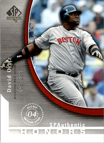 Photo of 2005 SP Authentic Honors #DO David Ortiz