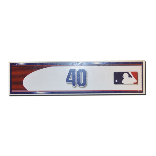 Photo of Bartolo Colon #40 - Game Used Locker Nameplate - Mets Clinch Playoff Berth - Mets vs. Phillies - 10/1/16