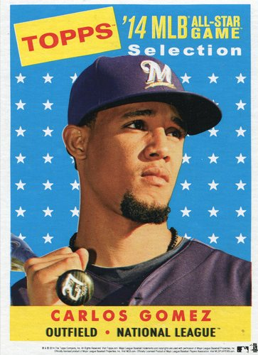 Photo of 2014 Topps 5x7 All-Star Selection Carlos Gomez -- Part of exclusive Minneapolis FanFest set