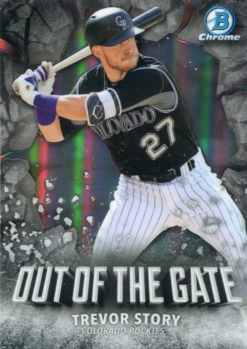 Photo of 2016 Bowman Chrome Out of the Gate #OOG1 Trevor Story