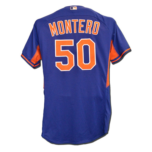 Photo of Rafael Montero #50 - Team Issued Batting Practice Jersey - 2015 Season