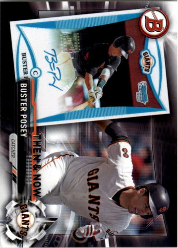 Photo of 2017 Topps Bowman Then and Now #BOWMAN7 Buster Posey