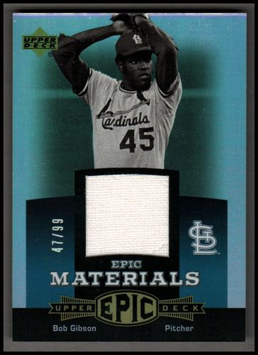 Photo of 2006 Upper Deck Epic Materials Teal #BG Bob Gibson Jsy/99