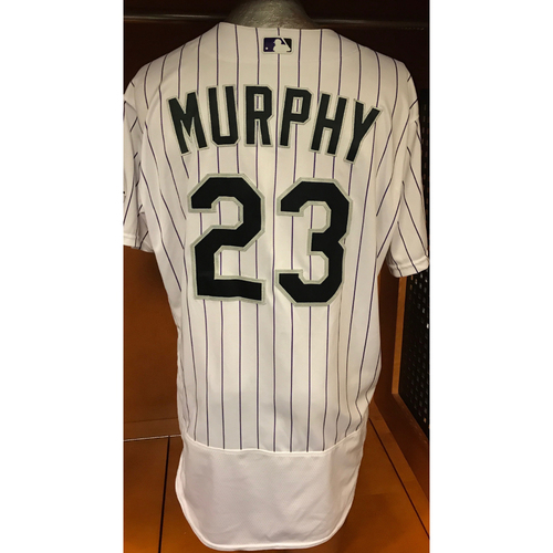 Photo of Colorado Rockies Tom Murphy Game Used Jersey to Aid Hurricane Harvey Relief Efforts