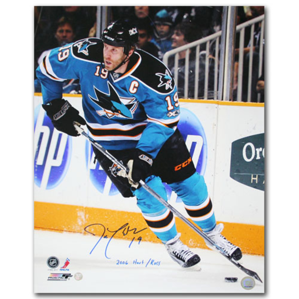 Joe Thornton Autographed San Jose Sharks 16X20 Photo w/