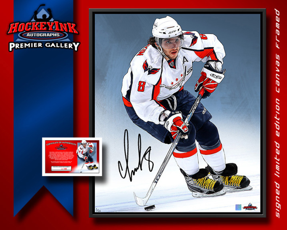 NHL Superstar ALEX OVECHKIN Signed Lm. Ed. #'ed of 108 20