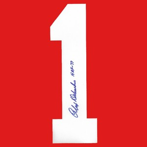 Alex Delvecchio Autographed Detroit Red Wings Twill Jersey Number