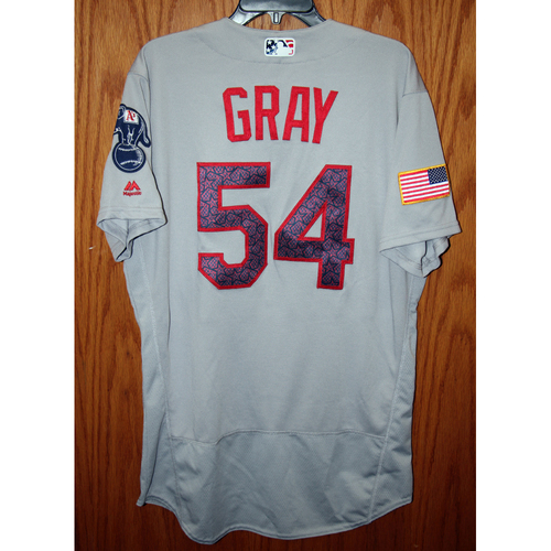 Photo of Sonny Gray Game-Used 2016 July 4th Jersey