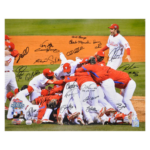 "Photo of Philadelphia Phillies 2008 W.S Team Signed 16"" x 20"" Photograph"