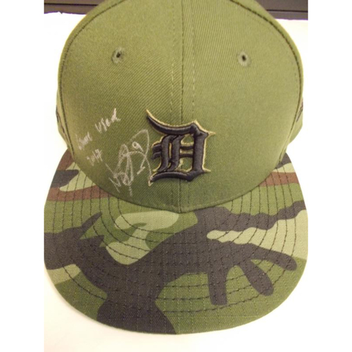 Photo of Autographed Game-Used Nicholas Castellanos Memorial Day Cap
