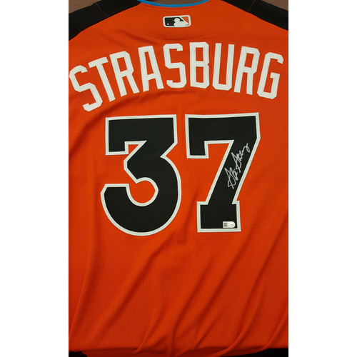 Photo of Stephen Strasburg 2017 Major League Baseball Workout Day/Home Run Derby Autographed Jersey