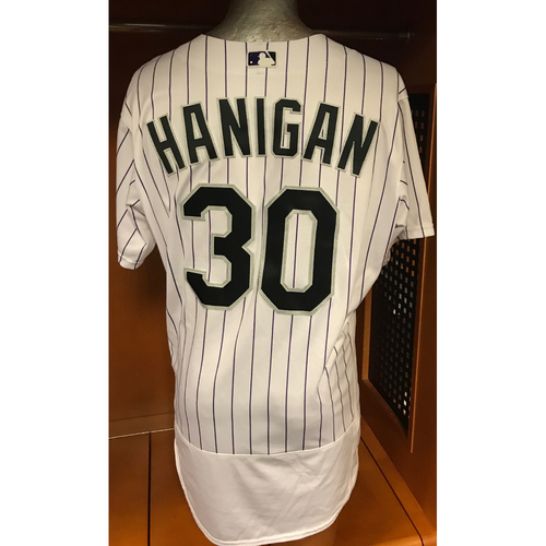 Photo of Colorado Rockies Ryan Hanigan Game Used Jersey to Aid Hurricane Harvey Relief Efforts