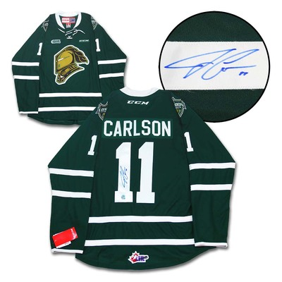 John Carlson London Knights Autographed CHL CCM Premier Hockey Jersey