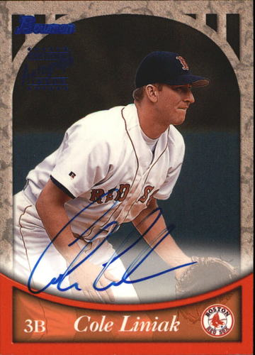 Photo of 1999 Bowman Autographs #BA52 Cole Liniak B