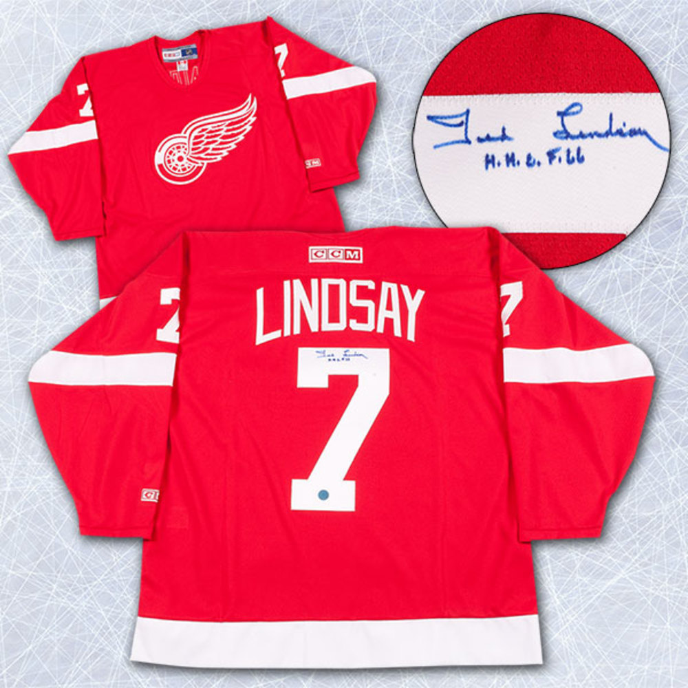 Ted Lindsay Detroit Red Wings Autographed Retro CCM Hockey Jersey