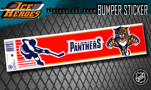 Vintage NHL FLORIDA PANTHERS Bumper Sticker - Unused - NOS - NM - STYLE B