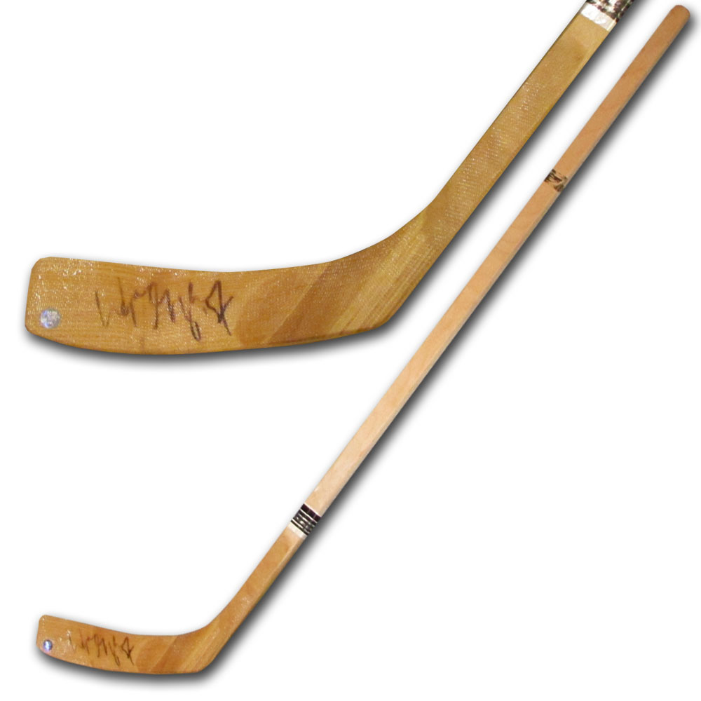 Wayne Gretzky Autographed Wood Hockey Stick (Edmonton Oilers, Los Angeles Kings, New York Rangers)