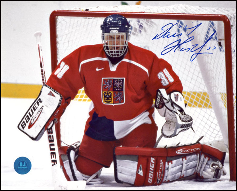 DOMINIK HASEK 1998 Olympic Games Czech Republic SIGNED 8x10 Photo