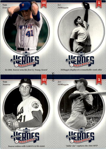 Photo of 2002 Upper Deck Prospect Premieres Heroes of Baseball 85 Quads #22 Seaver/Ripken/Mac/Mantle