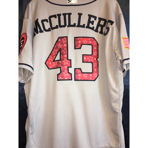 Photo of Game-Used Stars and Stripes Road Jersey: Lance McCullers, Jr.