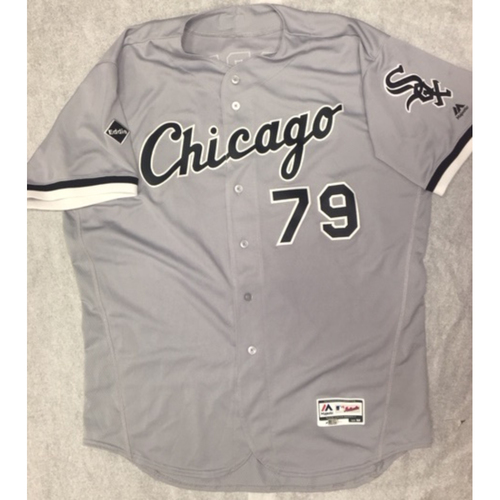 Photo of Jose Abreu Game-Used Grey Road Jersey - Size 52