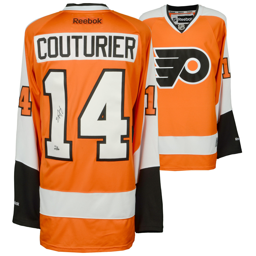 Sean Couturier Philadelphia Flyers Autographed Orange Reebok Jersey - Limited Edition of 50 - Upper Deck