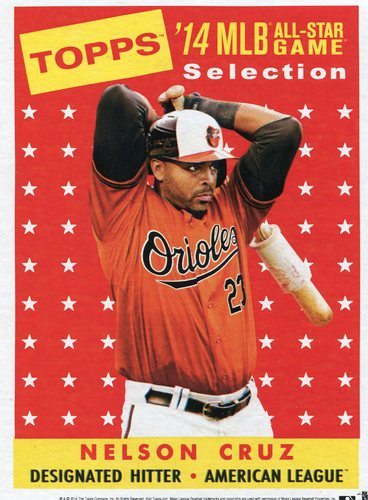 Photo of 2014 Topps 5x7 All-Star Selection Nelson Cruz -- Part of exclusive Minneapolis FanFest set