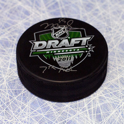 Mark Scheifele 2011 NHL Draft Day Puck Autographed w 7th Pick Inscription *Barrie Colts*