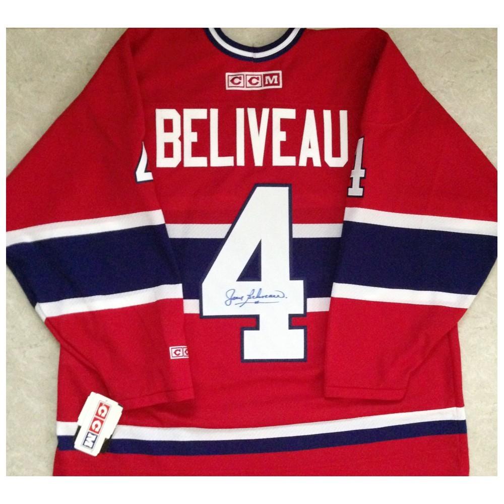 Jean Beliveau Autographed Montreal Canadians CCM Replica Jersey