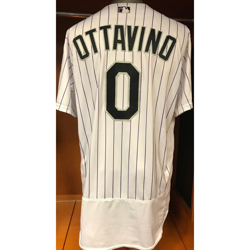 Photo of Colorado Rockies Adam Ottavino Game Used Jersey to Aid Hurricane Harvey Relief Efforts