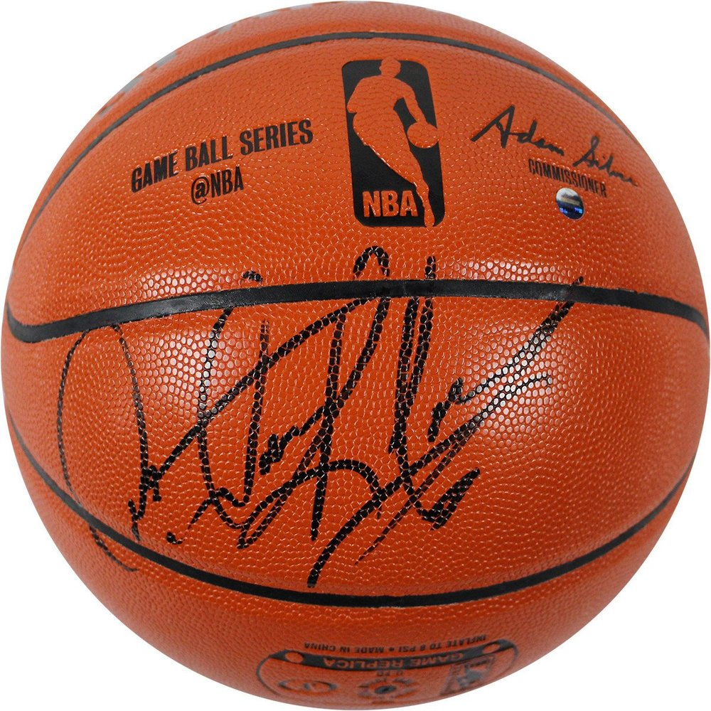 Dennis Rodman Signed I/O Basketball (Commissioner Adam Silver)