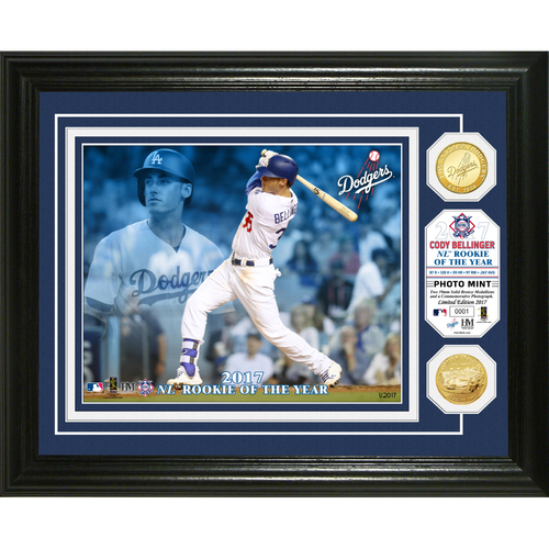 Photo of Cody Bellinger 2017 NL Rookie of the Year Bronze Coin Photo Mint