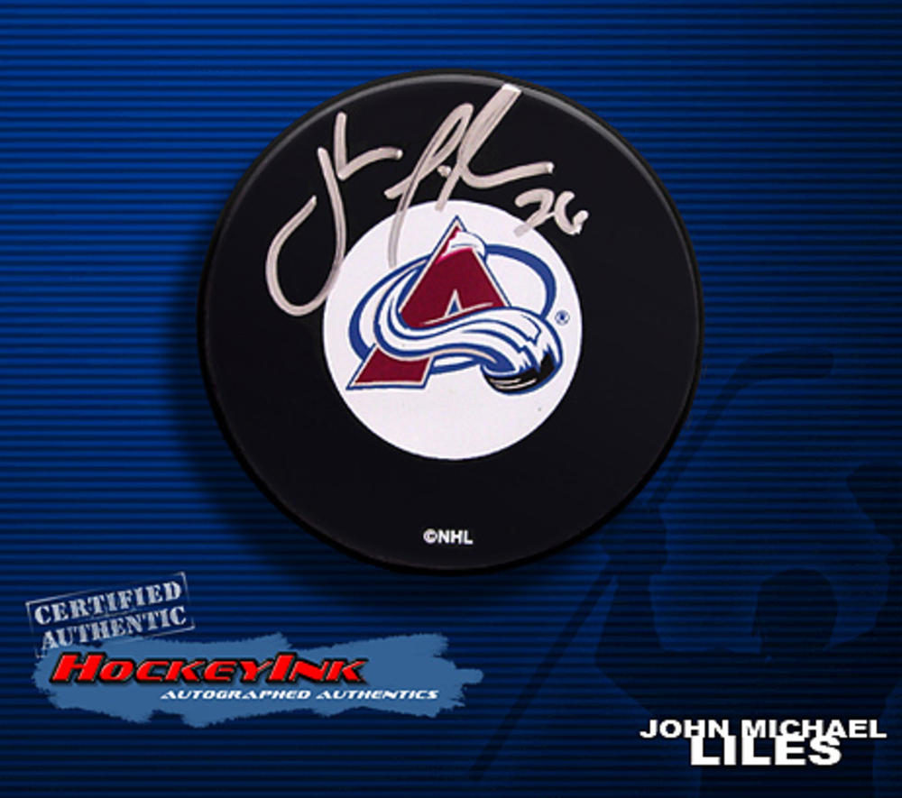 JOHN MICHAEL LILES Signed Colorado Avalanche Puck