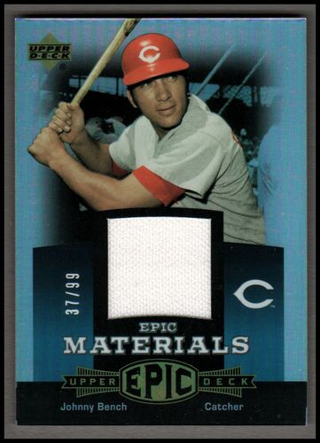 Photo of 2006 Upper Deck Epic Materials Teal #JB2 Johnny Bench Jsy/99