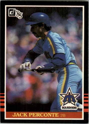 Photo of 1985 Donruss #74A Jack Perconte/Career Highlights/takes four lines