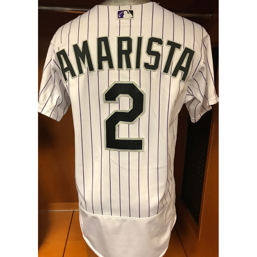 Photo of Colorado Rockies Alexi Amarista Game Used Jersey to Aid Hurricane Harvey Relief Efforts