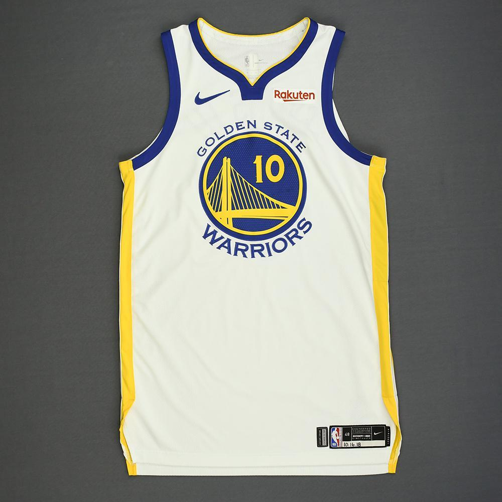 Jacob Evans - Golden State Warriors - Kia NBA Tip-Off 2018 - Game-Worn Association Edition Jersey - Dressed, Did Not Play