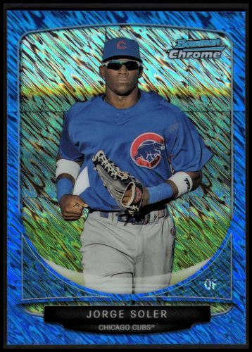 Photo of 2013 Bowman Chrome Cream of the Crop Mini Blue Wave Refractors #CC2 Jorge Soler
