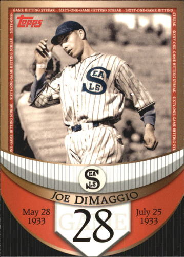 Photo of 2007 Topps DiMaggio Streak Before the Streak #JDSF28 Joe DiMaggio