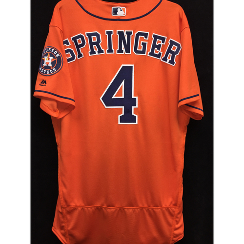 Photo of Team-Issued 2016 George Springer Orange Alternate Jersey