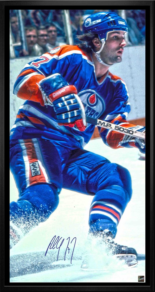 Paul Coffey - Signed & Framed 14x28