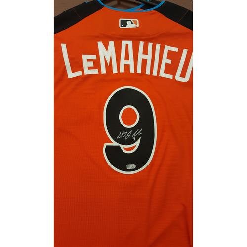 Photo of D.J. LeMahieu 2017 Major League Baseball Workout Day/Home Run Derby Autographed Jersey